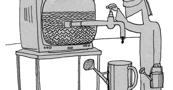 232 Karrikatur Fernsehwasser