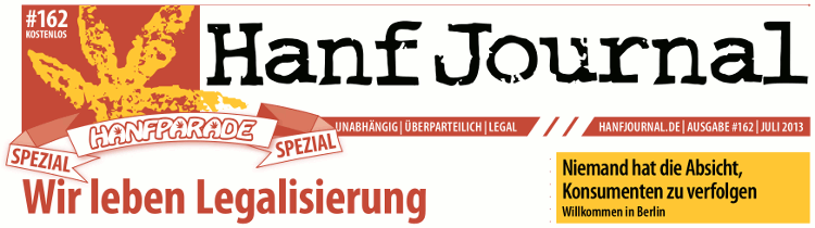 Hanf Journal Sonderausgabe Hanfparade 2013 Titel