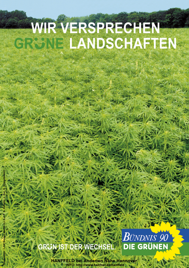 Wir versprechen grüne Landschaften