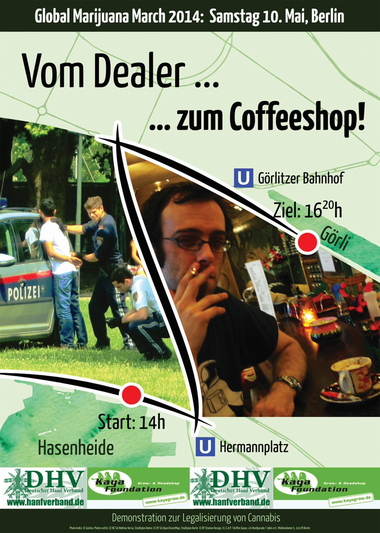 Flyer Global Marijuana March 2014 Berlin