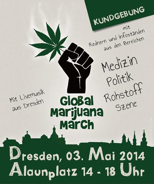 Flyer Global Marijuana March 2014 Dresden