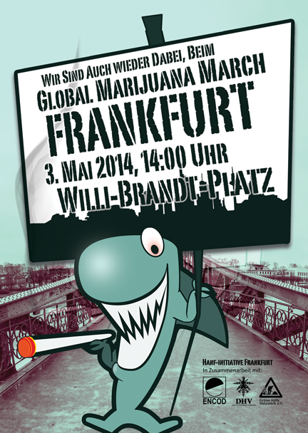 Flyer Global Marijuana March 2014 Frankfurt am Main