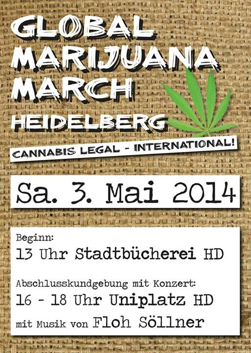 Flyer Global Marijuana March 2014 Heidelberg