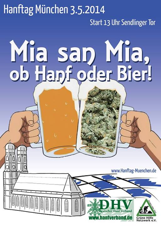 Flyer Global Marijuana March 2014 München