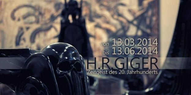 """Grafik zur Ausstellung """"HR Giger – Zeitgeist de 20. Jahrhunderts"""" in der Galerie Sansvoix in Leipzig"""