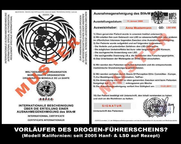 Vorläufer des Drogenführerscheins by D.O.P.E.C.