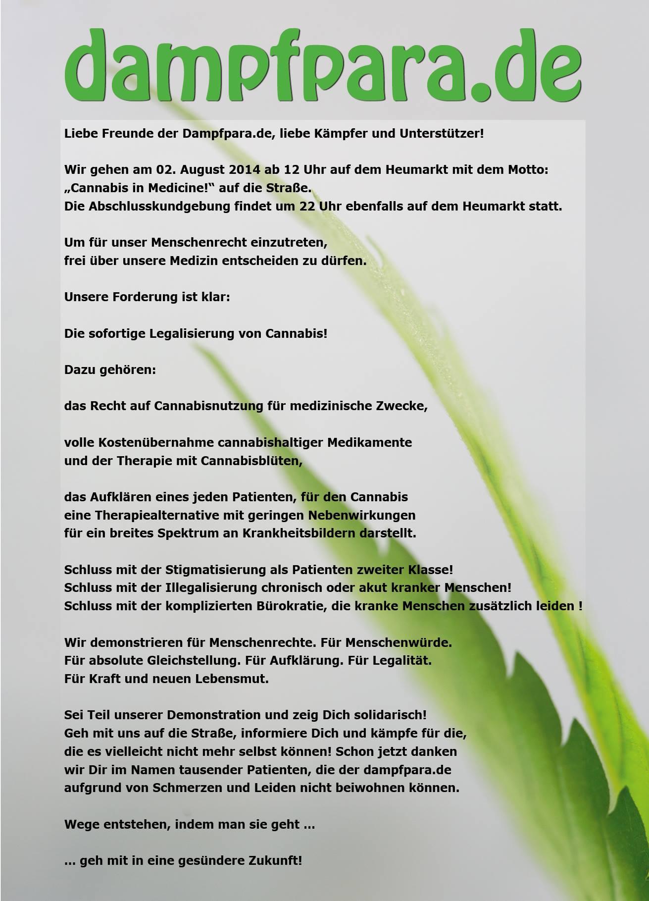 Forderungen der Dampfparade 2014 in Köln