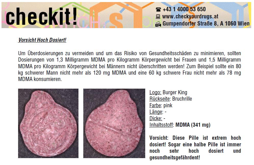 Pillenwarnung von Checkit! in Wien (Dezember 2014)