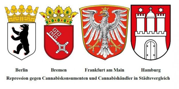 Cannabisrepression im Städtevergleich (Berlin, Bremen, Frankfurt am Main, Hamburg)