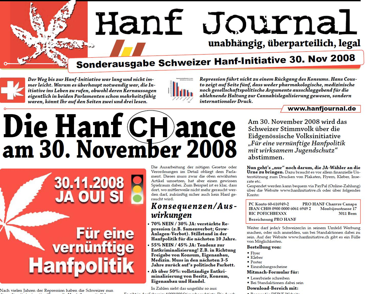 Hanf Journal Aiusgabe Hanf als Chance