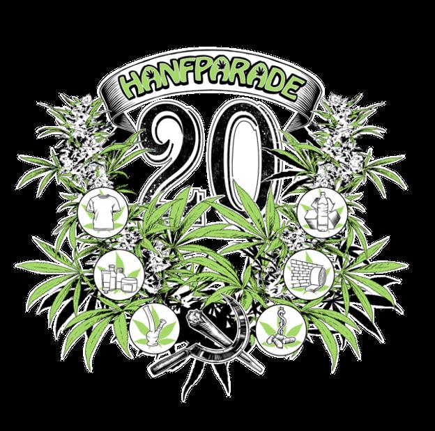 T-Shirt-Grafik Hanfparade 2016