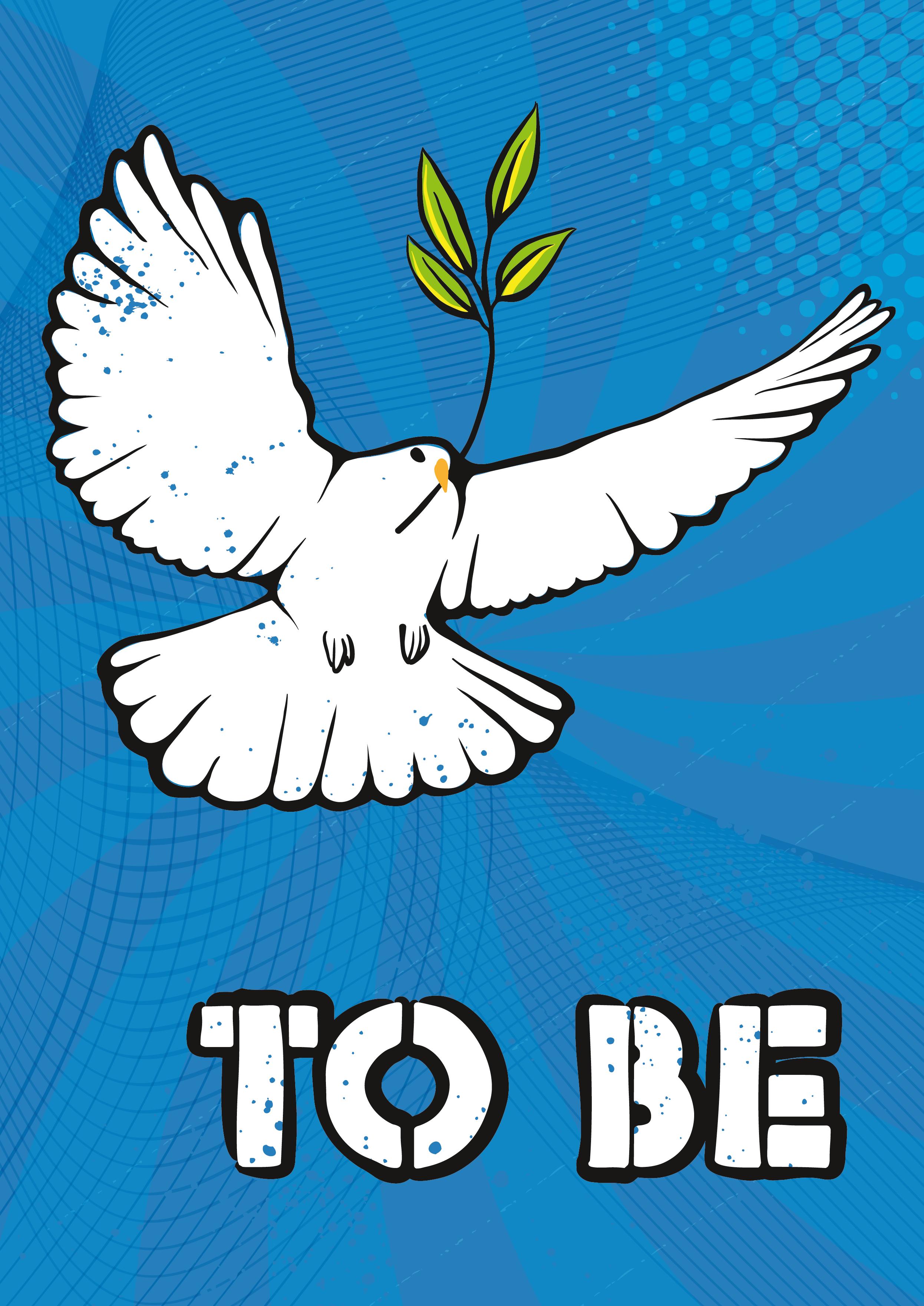 Abbildung 3 eine Friedenstaube, wie man sie heute häufig auf Friedensdemonstrationen sieht. Grafik: Doro Tops.