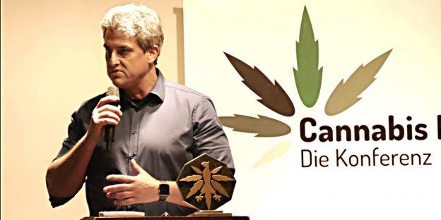 Frank Tempel auf der Cannabis-Konferenz des Deutschen Hanfverbandes 2017. Bild: Deutscher Hanfverband.