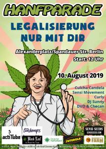 Ärztin-Poster zur Hanfparde 2019. Grafik: Doro Tops (zum Vergrößern, Bild anklicken)