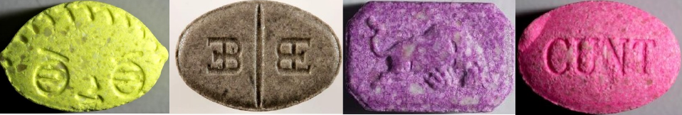 Extrem hochdosierte Ecstasypillen (MDMA-Pillen) mit mehr als 200 mg Wirkstoff