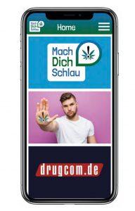 """Das vorgestellte Konzept steht unter dem Motto """"Mach Dich Schlau"""". Drugcom.de ist ein bestehendes Angebot der BZgA (Foto: Buzz Medien)"""