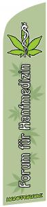 Flagge Forum für Hanfmedizin von der Hanfparade, Grafik Doro Tops