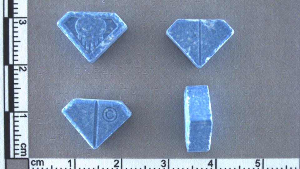 """Ecstasy-Tabletten """"Totenkopf-Pillen"""" (auch """"Punisher"""" genannt), Foto: LKA Niedersachsen"""