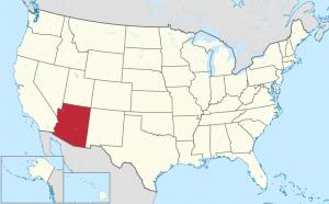Lage von Arizona in den USA, Wikimedia: User: TUBS, CC BY-SA 3.0