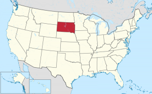 Lage von South Dakota in den USA, Wikimedia: User: TUBS, CC BY-SA 3.0