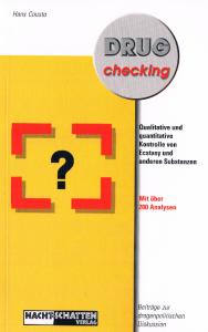 Titelseite des Buches Drug-Checking von Hans Cousto. Die erste Auflage erschien 1997, die zweite 1999.