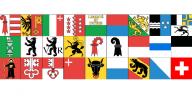 Fahnen der schweizer Kantone