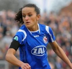 Die deutsche Nationalfußballerin Lira Bajramaj. Foto: dpa