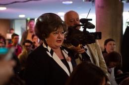 Konservative Ungarin diskutiert mit Agnes Heller. Foto: Fiona Krakenbürger