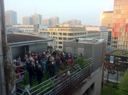 Feier auf dem taz-Dach u.a. aus Anlass des Geburtstages