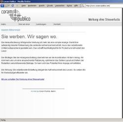 Webseite der fiktiven Werbeagentur