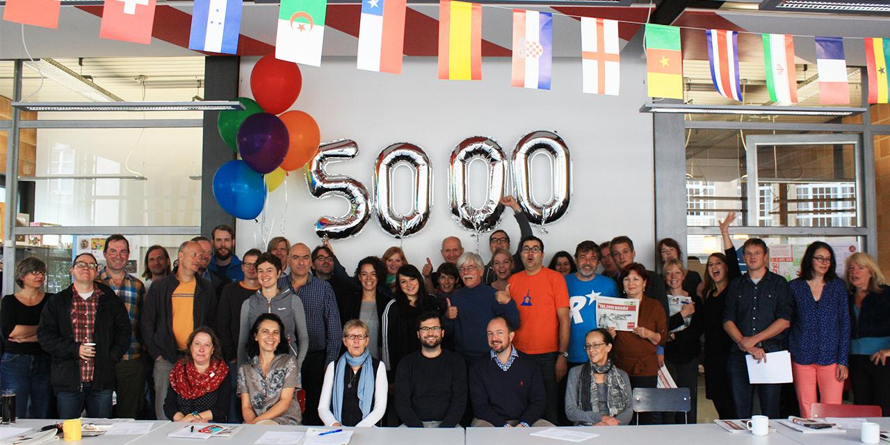 Die Redaktion freut sich über 5.000 freiwilliger AbonenntInnen