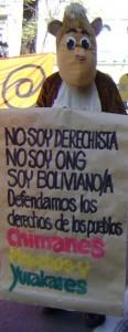 Ich bin kein Rechter und keine NGO: Demonstration in Cochabamba