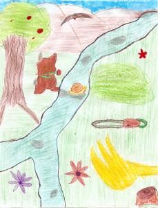 Das Bild zur Geschichte: Hase, Fluss, Motorsaege und Baggerschaufel