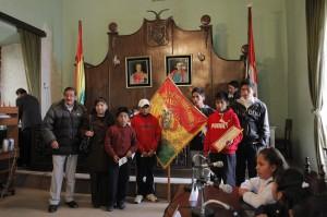 12. April im Rathaus von Potosi: Vertreter der Organisation arbeitender Kinder, Foto: Katrin Kraemer