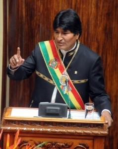 Evo Morales: Rede zum Jahrestag der Staatsneugruendung  Quelle: ABI