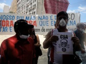 """Anwohnerprotest in Rio: """"Unsere Lunge ist nicht aus Stahl"""". Photo: Anwohnervereinigung"""