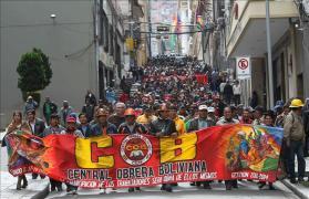 marcha COB La Paz