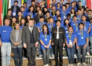 Siegerehrung bei der Wissensolympiade  Foto: ABI