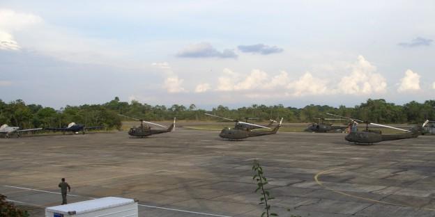 Auch diese Militär-Hubschrauber könnten mit CIA-Daten auf die Fährte von FARC-Comandantes gesetzt worden sein....