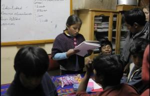 Sitzung der Organisation arbeitender Kinder aus Potosi Foto: Katrin Kraemer