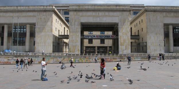 Der Justizpalast in Kolumbien ist das Symbol der Rechtssprechung. Die funktioniert aber nicht immer vorbildlich....