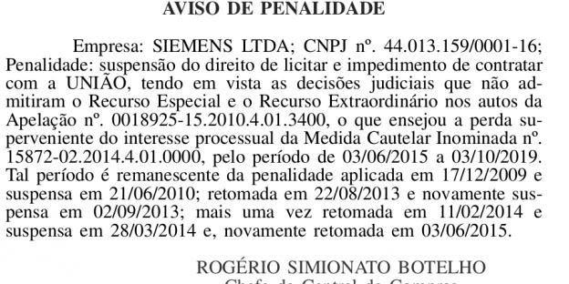 Textauszug aus dem Diário Oficial da União vom 12. Juni 2015