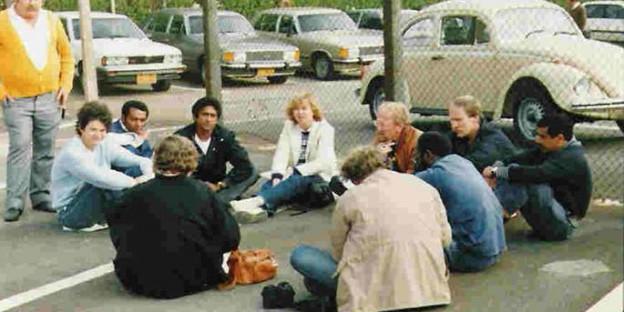 Anfang 1985 auf dem Parkplatz von MBB