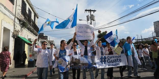 Proteste in Guatemala gegen die Korruption und für die Aufhebung der Immunität von Präsident Otto Pérez Molina