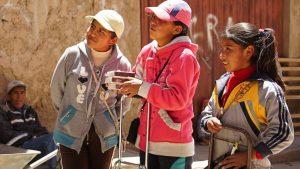 Ana Rosa Sandra und Amalia  bei der ARbeit
