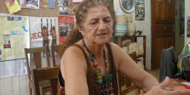 Antônia Melo, im Büro von Xingu Vivo para Sempre. Foto: christianrussau