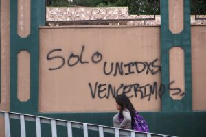 Nur gemeinsam werden wir siegen -Grafiti in Tegucigalpa