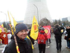 Martin Unfried auf der Anti-Atom-Demo in Tihange am 10.03.2013