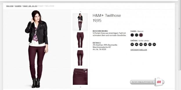 So sehen Dicke aus - im H&M Katalog