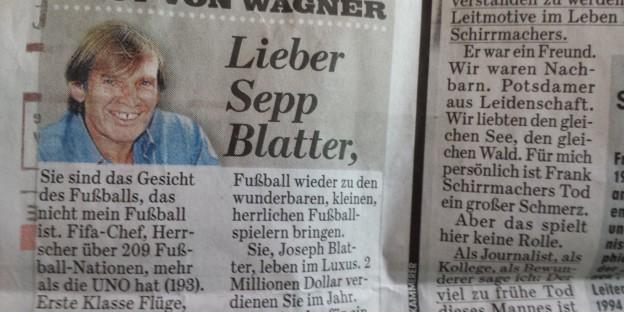 Wagner Blatter Fußball